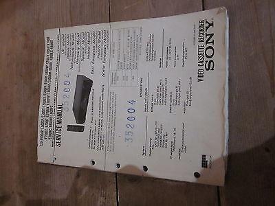 Service Manual für Sony SLV-E500 / SLV-E600 / SLV-E700 / SLV-E800
