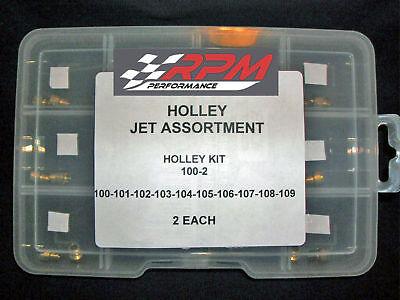 Holley Jet Assortment Plate Kit 70-80 Gas Main Jet Carburetor Carb 2 EACH 22-700