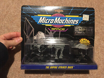 TIE Starfighter, Imperial AT-AT, Snowspeeder Micro Machines Empire Strikes Back