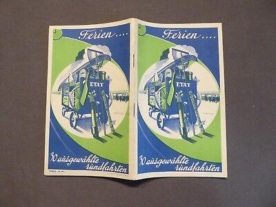 Frankreich Reiseprospekt, Staatsbahnen, 30 ausgewählte Rundfahrten, um 1933