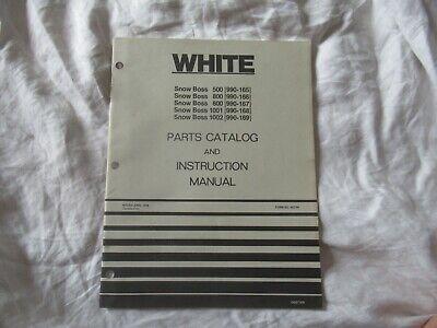 White 500 800 1001 1002 Snow Boss Operators Instruction Manual Parts Catalog