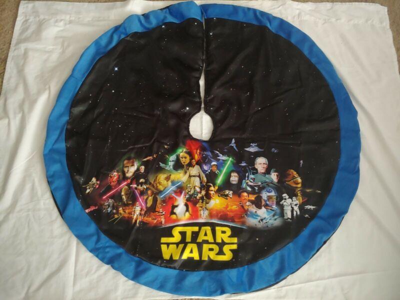 "STAR WARS 48"" Christmas Tree Skirt Luke Yoda Han Solo Leia RARE"