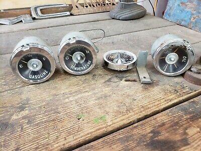 1959 1960 Original Impala Belair El Camino Dash Gauge Set & Clock Delete Cover