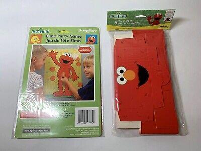 Sesame Street Elmo Party Game Pin Nose on Elmo, 6pc Treat box Bag Lot Free Ship! - Elmo Party Decorations