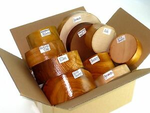 Wood turning bowl blanks gift selection box.  Pack of mixed sizes and species