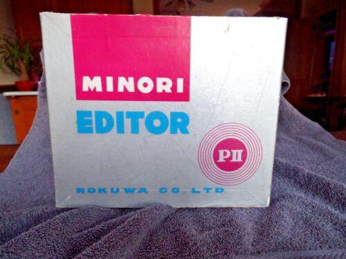 ROKUWA MINORI EDITOR PII FILM EDITOR