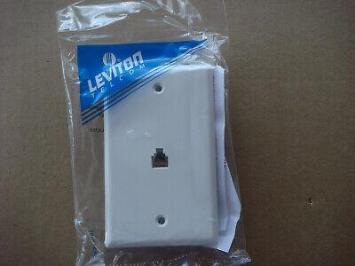 Leviton, 40249-00W,White Flush Mount Telephone Wall Jack, 4 Conductor