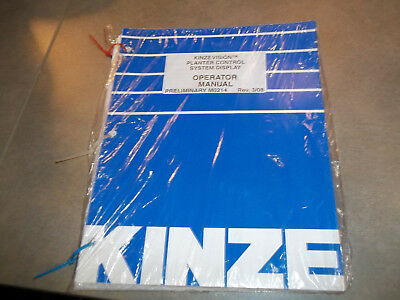 Kinze Vision Planter Control System Display Operator Manual