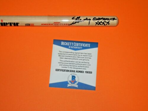 SHANNON LARKIN  GODSMACK SIGNED VIC FIRTH DRUMSTICK beckett certified