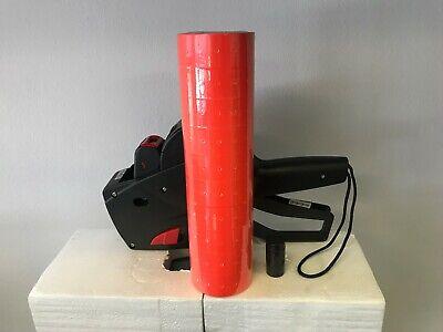 New Price marking gun & 10,000 red Labels, 1 Ink (Price Marking Gun)