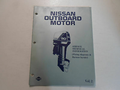 (1988 Nissan Outboard Motor Service Tech Info WD Manual WATER DAMAGED VOLUME 2)