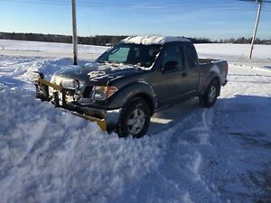 2005 Nissan Frontier 4x4 with Fisher plow