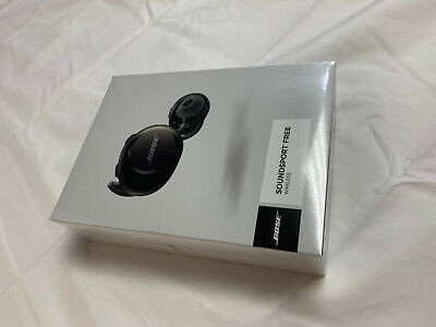 BOSE SoundSport Free Wireless Earbuds w/ Charging Case & Box - Black - NEW