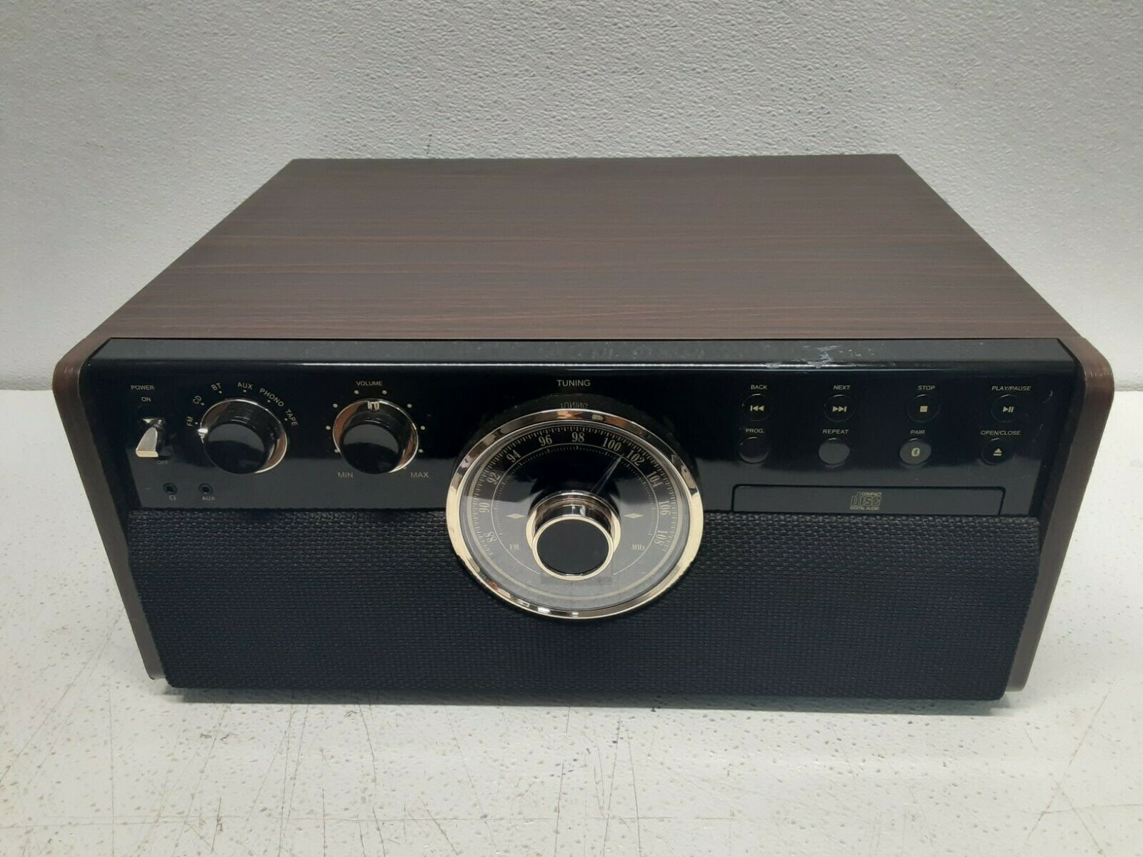 Victrola - Bluetooth Stereo Audio System - Gold/Brown/Black - New Open Box - $124.99