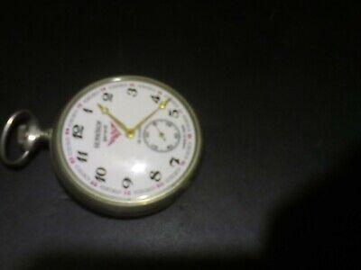Pocket watch Molnija Molniya Molnia Train Serkisof 18 jewels vintage USSR