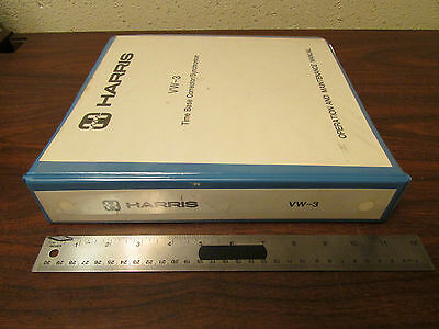 Harris Vw-3 Time Base Correctorsynchronizer Op Maint Manual 1986