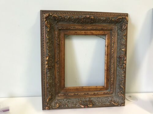 Gold Leaf Wooden Picture Frame- Holds an 8 X 10 Painting -4 1/2 Inch Molding
