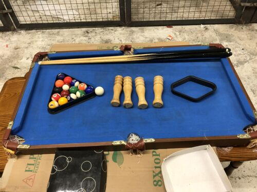 4 x 2ft Pool Table With Legs  and All Accessories