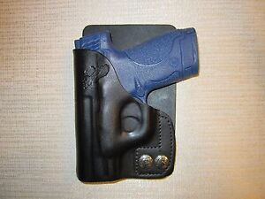 S & W M&P SHIELD 9MM & 40 CAL. leather right hand, wallet and pocket holster