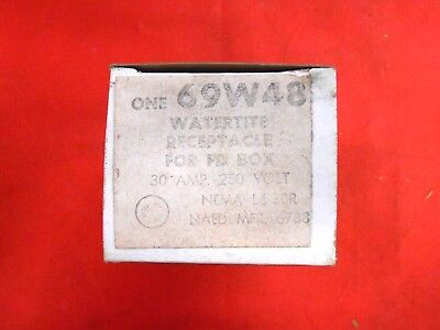 Woodhead 69w48 Watertite Receptacle For Fd Box 30 A 250v - Nib