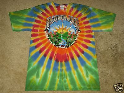 - Grateful Dead Waterfall/ Sunrise S, M, L, XL, 2XL, 3XL, 4XL, 5XL Tie Dye T-Shirt