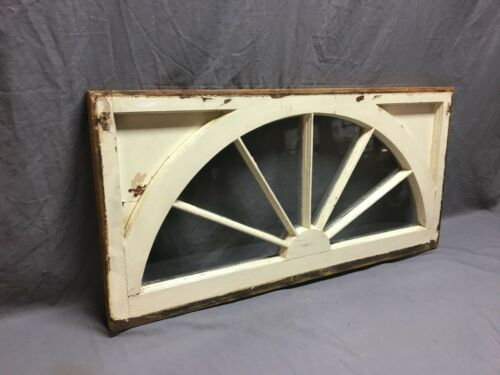 Antique 6 Lite Arched Transom Fan Window Sash 18x36 Sunburst Cottage Vtg 274-19J