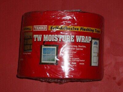 Tamko Tw Moisture Wrap Self-adhesive Flashing Tape 75 Feet Long 6 Inches Wide
