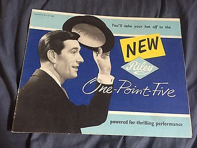 1950s BMC Riley One Point Five Saloon Color Original Brochure Prospekt