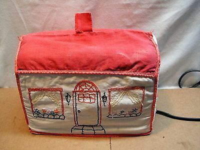 Vintage Embroidered House Toaster Cover:  Hand Embroidered. Very Old.