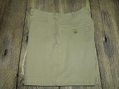 "Mens Vintage The North Face Black Label 100% Cotton 5"" Chino Shorts M 34 Khaki"