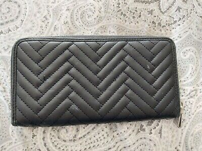 LKBennett Quilted Leather Purse Black