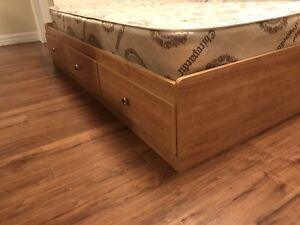 Mattress, Bed Frame, Head board-$100