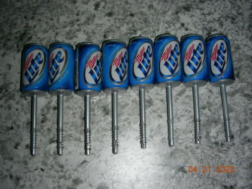 LOT 8 Lindy Miller Lite Beer Can Bobbers, Floats -