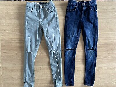 Bundle Of Two Next Spray On Super Skinny Jeans Age 8 7-8...