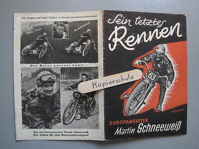 L814: Steyr Daimler Puch Schneeweiß Europameister auf Puch 175 Bahnrennen 1947