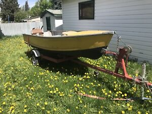 Fishing boat, motor and trailer