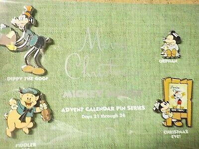 DISNEY MICKEY MOUSE ADVENT CALENDAR PIN SERIES SET # 7 L.E. 1500 NEW c