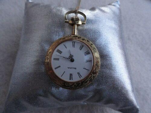 Swiss Made Bulova Mechanical Wind Up Necklace Pendant Watch
