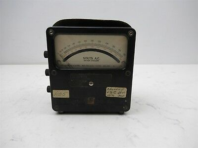 Vintage Western Electrical Instrument Corp Model 433 Volt Meter Ac 25-125 Analog
