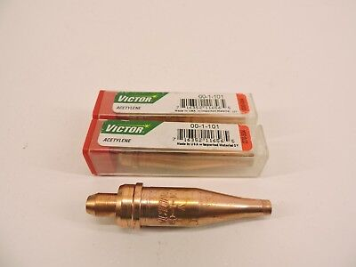"""Cutting Tip 1-101#00 00-1-101 Victor Style Oxy Acetylene Cut 1//4/"""" Pack of 2"""