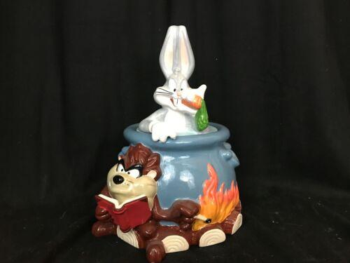 Vintage Bugs Bunny Tasmanian Devil Looney Tunes Cookie Jar (Bugs/Taz) CUTE!