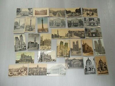 Vintage CPA :  lot de 29 cartes postales BRUXELLES état voir photos