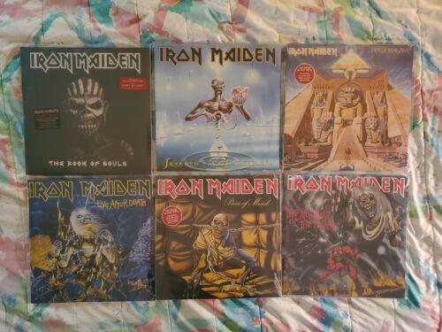 Iron Maiden 6 Album Vinyl Record Lot Set SEALED & MINT