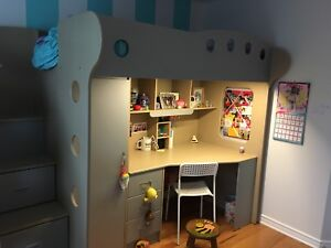 Kids Bunk Bed for sale with desk