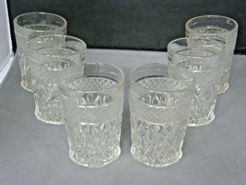 Set of 6 Highball Cocktail Glasses-Cape Cod Pattern-Imperial Elegant Glass-Vtg