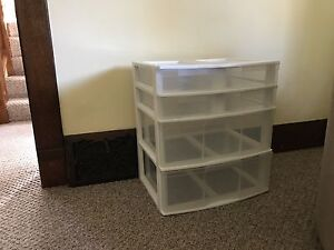 sterilite plastic drawer unit