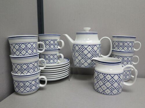 RICHARD GINORI ITALY PORCELAIN BLUE & WHITE TEA / COFFEE SET