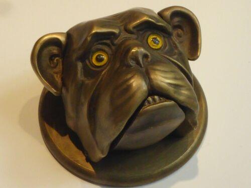 NOVELTY BRONZE DESK BELL IN FORM OF PUG DOG