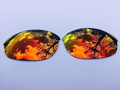 Graviert Polarisiert Feuerrot Gespiegelt Ersatzgläser für Oakley Half Jacket