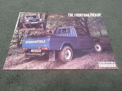 1986 1987 DAIHATSU FOURTRAK 4WD LWB PICKUP - UK COLOUR LEAFLET BROCHURE